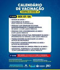 Calendário de Vacinação  07 de Maio
