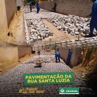 Pavimentação da Rua Santa Luzia - Lagoa
